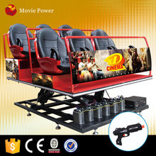 Crazy and exciting game cinema 7d electric gun with good quality
