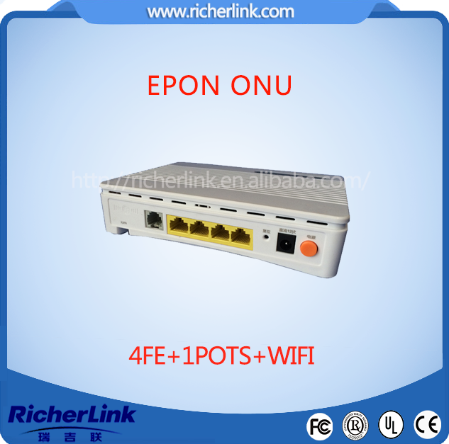 4 FE ports 1 voip and catv epon wifi onu