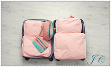 Hot Sale 5pcs = 1Set Polyester Canvas Storage Box With Zipper