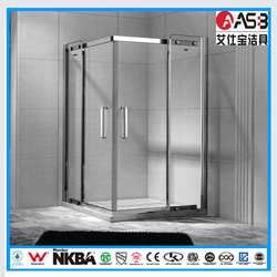 house and home square 8mm Tempered Glass mini shower screen