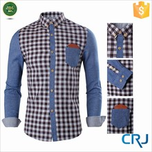 Mens trendy slim fit two-toned checkered plus point shirt