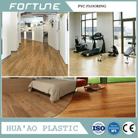 pvc flooring with glue backing for room decorative wood designs
