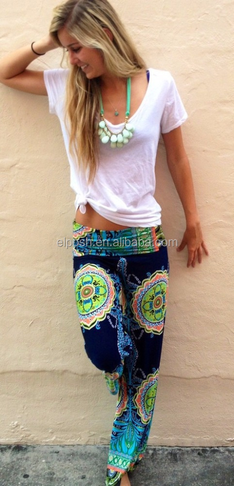 Wholesale Fashion Bohemia Printed Women Hippie Pants