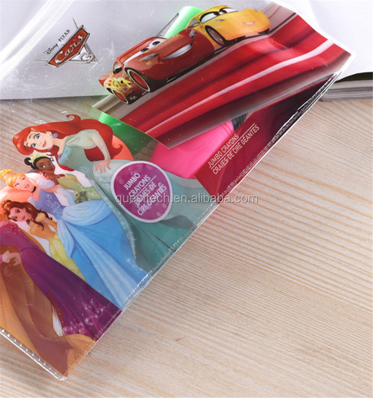 Wholesale Custom Transparent Ziplock PVC Plastic Halloween Pencil Bag
