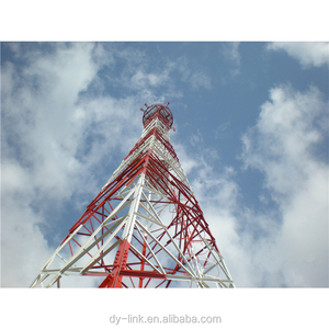Steel self supporting transmission Lattice communication Tower