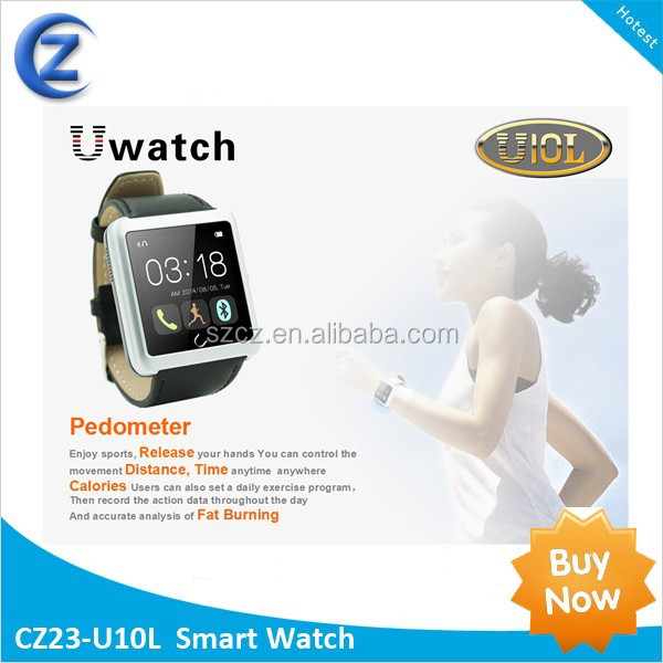 U10L Smart Watch <strong>U10</strong> Bluetooth Watches Support Call/SMS/Compass/Bluetooth R/C Camera Wrist Watches
