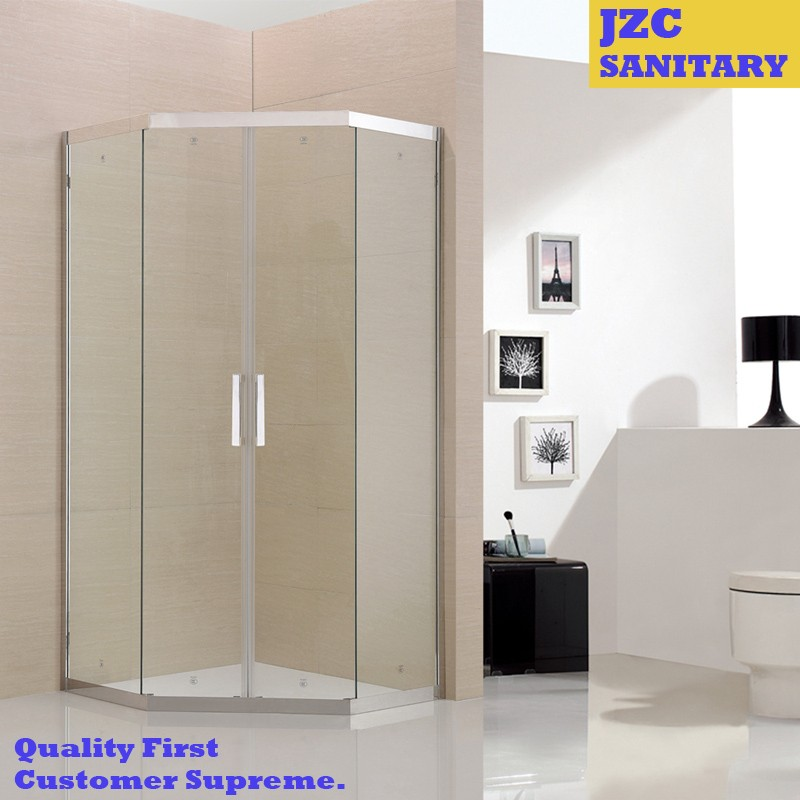 Polished Surface Finishing Stainless Steel Frame Diamond Shower Room