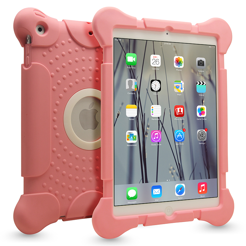 For apple ipad mini rugged covers and cases,custom silicon pink tablet case for ipad