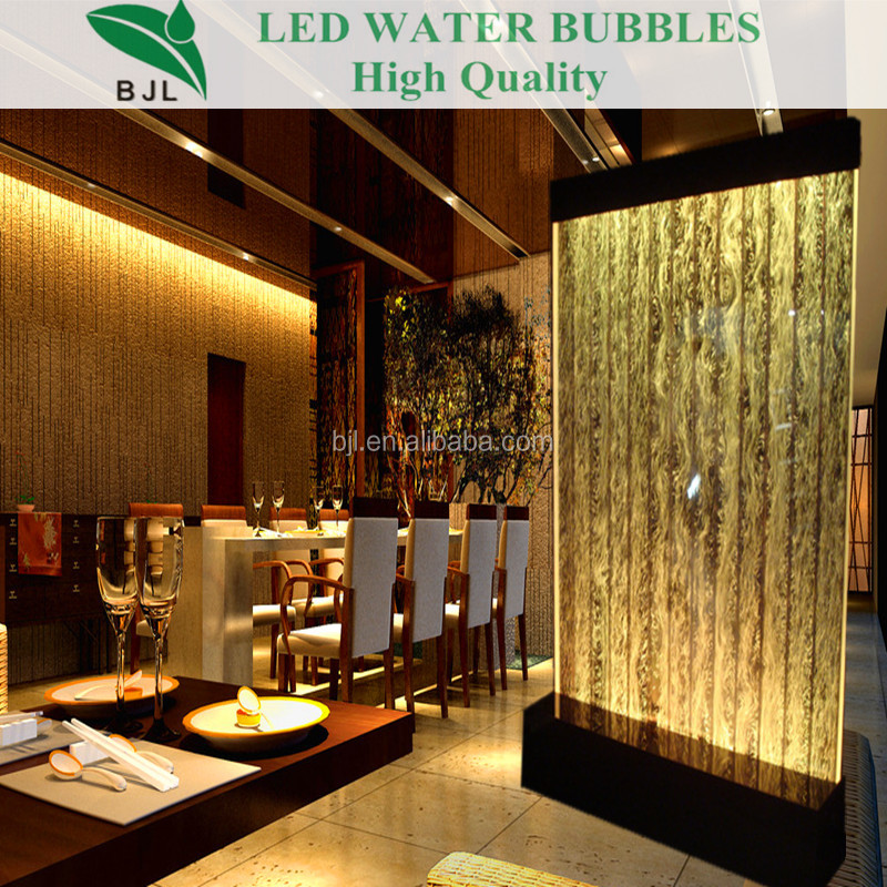 glass waterfall indoor home room divider