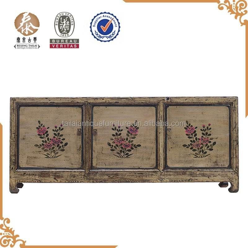 Beijing antique furniture living room 3dors TV cabinet designs