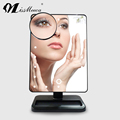 Fashional Design Adjustable Brightness Square LED Light Makeup Mirror
