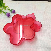 90mm Transparent flower shaped acrylic chocolate packaging box