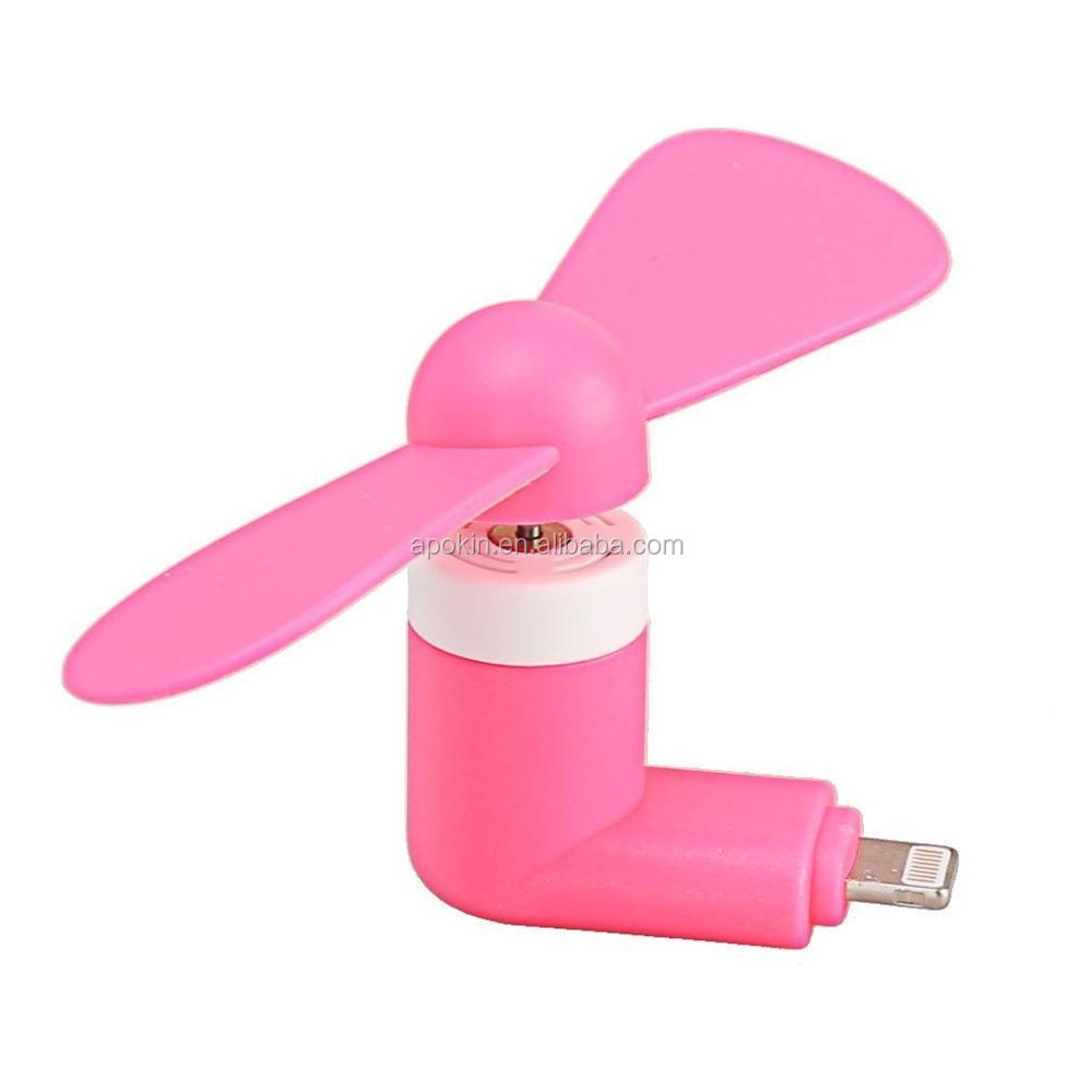 Wholesale Portable Mini Electric Fan Cooling Cooler Cell Phone For iphone android mini usb fan as gift chioce