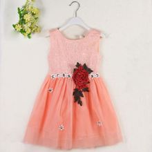 2016 Hot Selling lace kids fashion show baby christening dress