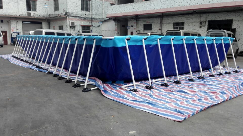 Portable rectangular above ground swimming pool/above ground pool/swimming pool for family