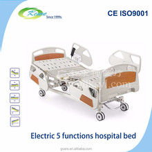 Long term care bed with 5 functions electrical adjusted for home use