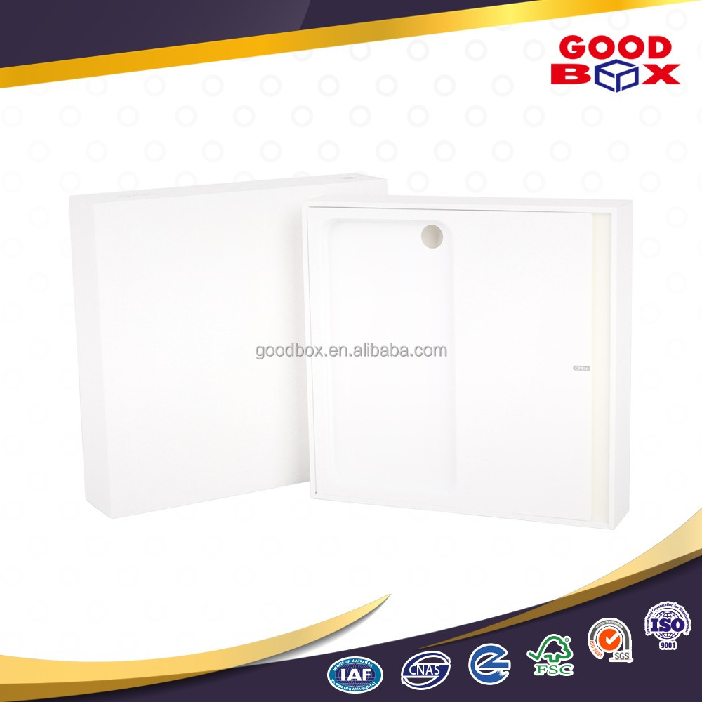 White minimalism custom mobile android phone case paper box