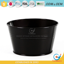 outdoor home decor planter cheap wholesale metal flower pots powder coating garden pot