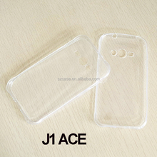 1.0mm High Clear transparent tpu mobile phone back cover case for samsung galaxy j1 ace