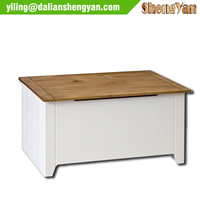 Long Ottoman Storage Bench, High Quality Wooden Ottoman