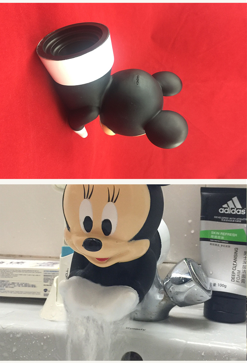 amazon hot sell 2018 Baby safety product Mickey Mouse Animal Water Faucet Extender