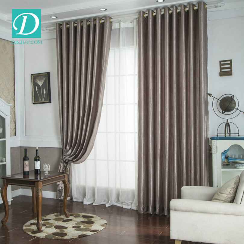 High quality simple pure stock curtains window curtain
