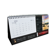Flip over desk calendar in different shapes