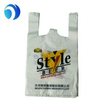 With your own logo hot selling printed t shirt bag for shopping