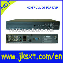 4ch P2P cloud h 264 icms software dvr full d1 real time