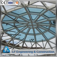 Cheap Prefab Steel Glass Dome Roof Building