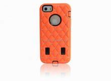 For iphone 5s hybrid armor defender skin case cover with diamond mobile phone accessory