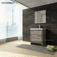 OEM vanity fair bathroom furniture/solid wood bathroom furniture/white bathroom vanity