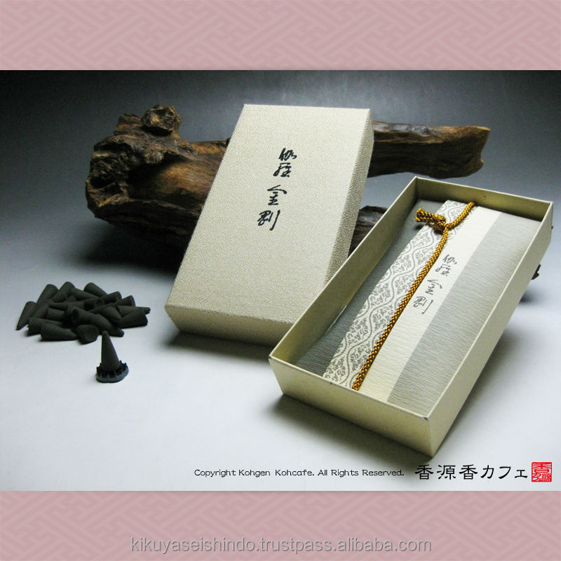 Japanese incense, Kyara Kongo, Economical Pack (24 cones), Nippon Kodo