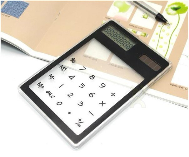 Mini solar card calculator