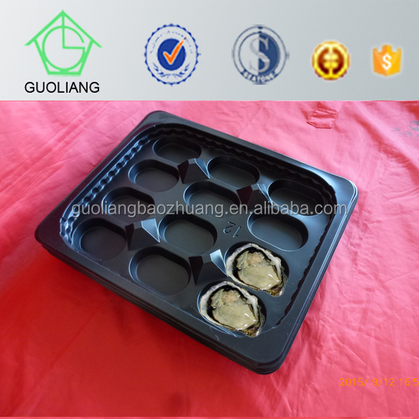 12 Caliber Three Layer Flow Casting Poly Oysters Plastic Blister Trays with High Quality