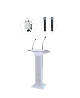 60W Luxury Digital Lectern , Church Podium For Speeches And Teaching