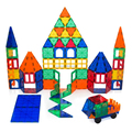 Educational And Creative Imagination Development Magnet Tiles Magnetic Building Blocks Educational Stacking Toy 130PCS