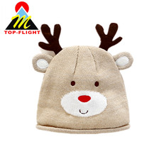 Baby Winter Cartoon Dear Knitted Hat