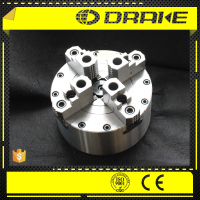 4 hardened jaw wedge style closed center pneumatic power chuck with foot-switch for auto lapping machine
