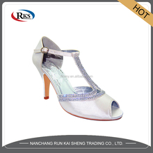 new design high heel jelly wedge shoes