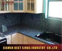 Popular kitchen used blue pearl laminate countertops