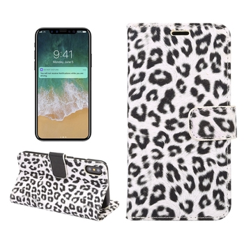 For iPhone 7 7 plus Case Leopard Print PU Leather Wallet Case with Credit Card Slots