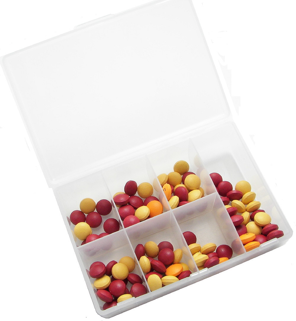 best sale plastic 8 compartments pill box with high quality, custom color ,custom size,OEM orders are welcome