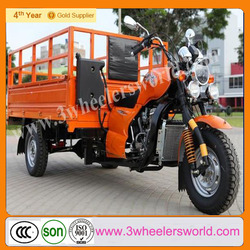 China Supplier 3 Wheel Trike Motorcycle Roof with Power Rear Axle /Truck Cargo Tricycle for Sale