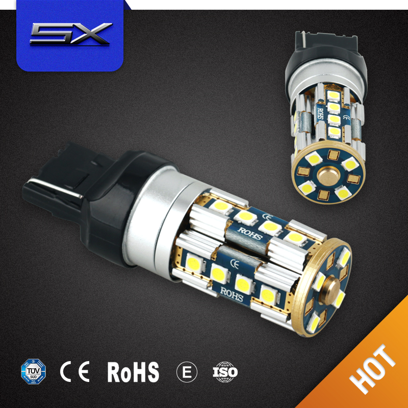 1156 1157 7443 24smd 5630 led bulbs t20 auto led tuning light dual color