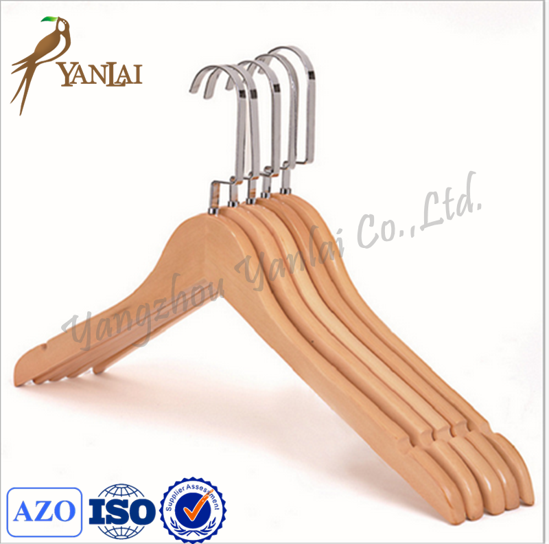 High quality wholesale cheap wooden hangers and hotel hangers