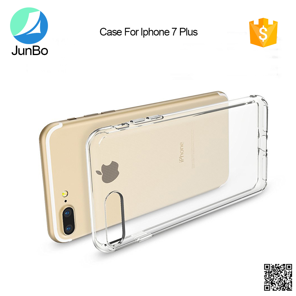 for iphone case always popular transparent hard back TPU+PC flip cover phone cases for iphone 7 plus