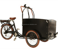 Tricycle electrische bakfiets electric three wheel cargo bike with rain cover for transporting