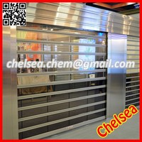 Remote control commercial roller shutter , commercial roll up transparent shutter