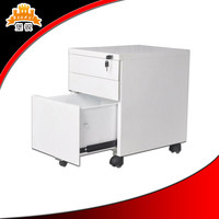 Luoyang low price commercial furniture 3 drawer Movable storage cabinet under table